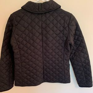 Black quilted jacket in perfect condition